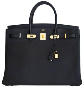 Herms Hermes Birkin Birkin 40 Tote in Black