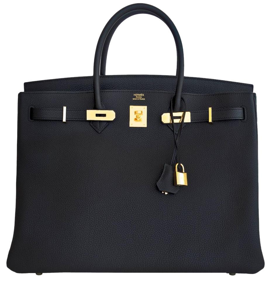 14473bd715cf Hermès Birkin 40cm Togo Gold Hardware C Stamp Black Leather Tote ...