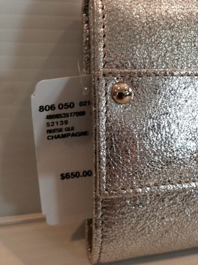 Jimmy Choo JIMMY CHOO AUTHENTIC NWT LARGE METALLIC LEATHER CONTINENTAL WALLET