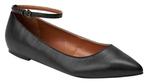 Gap Leather Patent Leather Black Flats