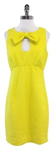 Trina Turk short dress Yellow Sleeveless Cotton Bow on Tradesy