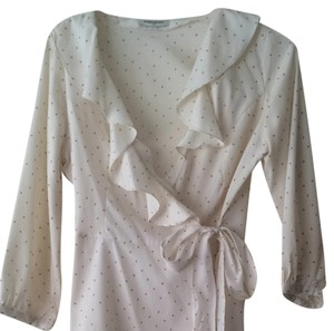Banana Republic Top Cream With Beige Dots