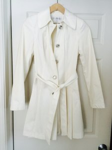 Via Spiga Fitted Belted Slide Pockets Lined Xs Peacoat Pleats Trench Coat