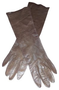 Unknown Long leather gloves
