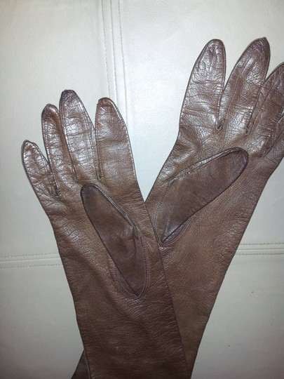 Unknown Long leather gloves Image 1