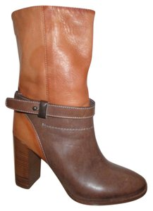 Vince Camuto Leather Ankle brown & tan Boots