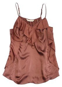 Rebecca Taylor Blush Silk Ruffled Top
