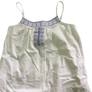 Gap Kids Embroidered Flowy White Top White, Indigo