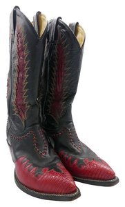 Tony Lama Lizard Black Boots