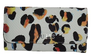 Guess Wallet Delany White Multi Clutch