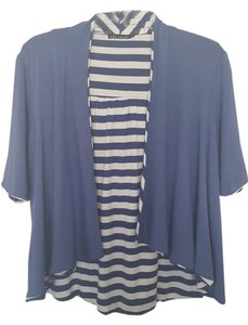Ella Moss Short-sleeved Striped Cardigan