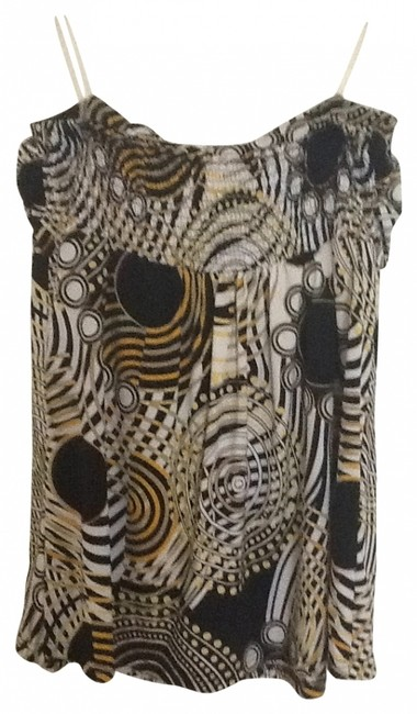 Preload https://item3.tradesy.com/images/joy-joy-black-yellow-and-white-night-out-top-size-8-m-181347-0-0.jpg?width=400&height=650