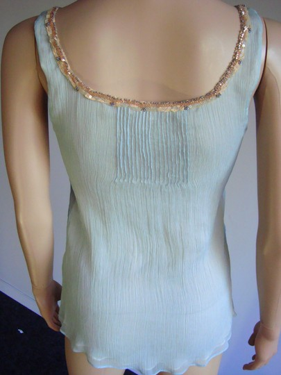85%OFF Rebecca Taylor Silk Beaded Top Blue - 77% Off Retail