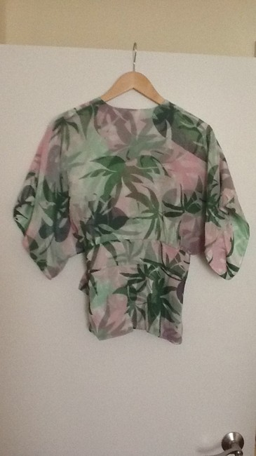 Preload https://item4.tradesy.com/images/tibi-green-and-pink-blouse-size-12-l-181348-0-0.jpg?width=400&height=650
