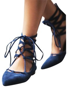 Jeffrey Campbell Navy Flats