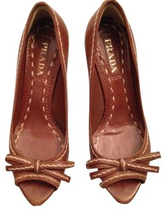 Prada Rich Brown Pumps