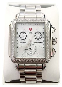 Michele Michele Signature Deco Diamond 3-Link Watch