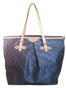 Louis Vuitton Zippered Tote Palermo Gm Satchel in Brown