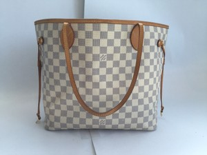 Louis Vuitton Mm Neverfull Tote in Damer Azur