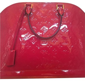 Louis Vuitton Alma Gm Large Satchel in Pink