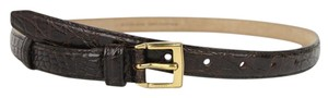 Gucci New Gucci Womens Brown Leather Belt w/Bamboo Buckle 100/40 339068 2535