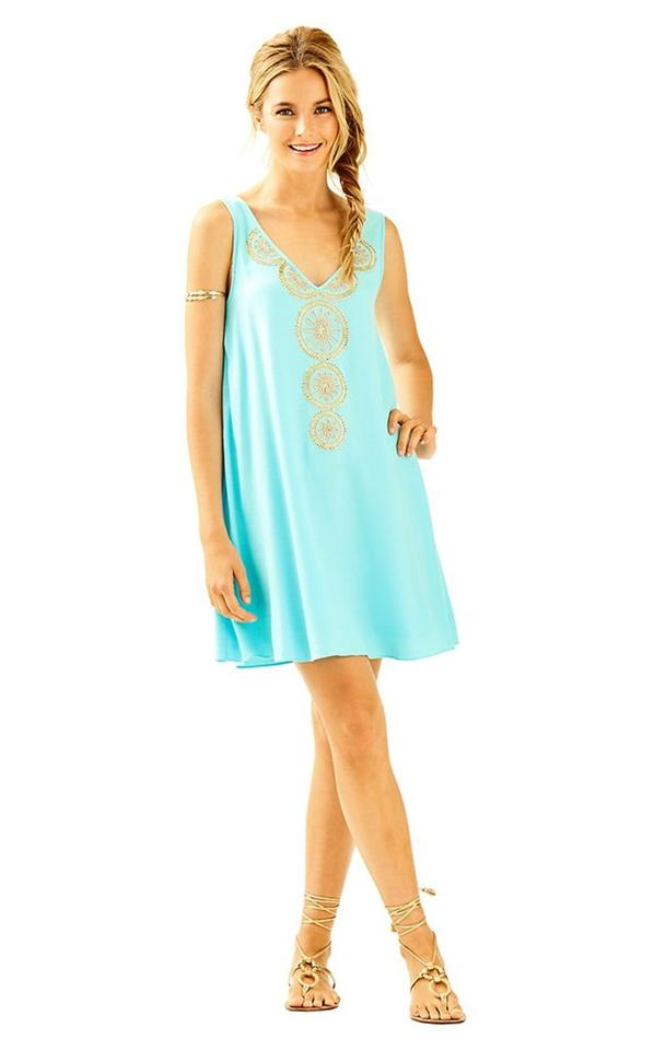 Lilly Pulitzer Nude New Fia M Short Cocktail Dress Size 10