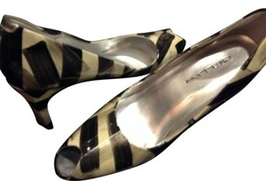 Bellini black, silver, creme Pumps