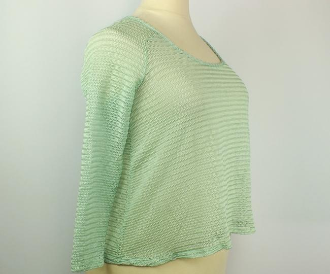 Tattoo Me Plus Size Fashions A-line Top Spring Green Image 2