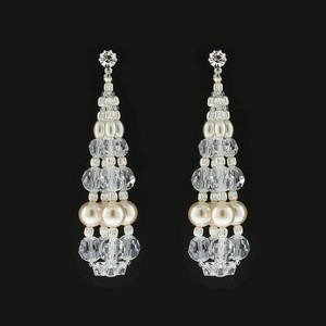 Giavan Swarovski Pearl & Crystal Bauble Earrings Rs130e (e33)