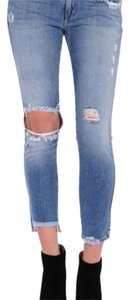 Siwy Cropped Distressed Barely Worn Skinny Jeans-Distressed