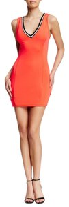 Lush short dress Orange Juniors on Tradesy