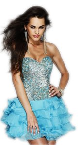 Sherri Hill Sequin Ruffle Short Party Sparkle Mini Dress