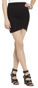 BCBGMAXAZRIA Tulip Mini Skirt BLACK