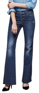 Gap Denim High Rise Flare Leg Jeans-Dark Rinse