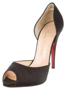 Christian Louboutin Loubs BLACK SATIN RED BOTTOMS CHRISTIAN LOUBOUTIN 42 / 12 Pumps