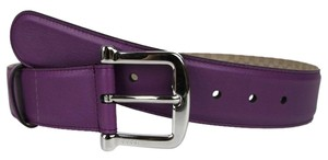 Gucci New Gucci Womens Purple Leather Belt w/Silver Buckle 80/32 281548 5526