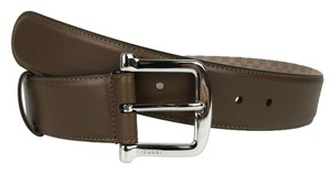Gucci New Gucci Women's Brown Leather Belt w/Silver Buckle 90/36 281548 2527