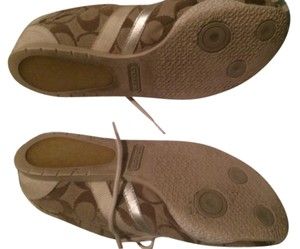 Coach Sneakers Athletic Khaki/brown white suede Flats