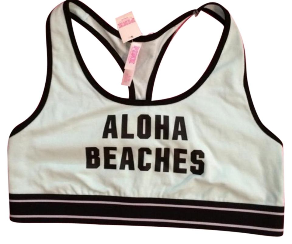 b591a13ee5 PINK Mint Blk Aloha Beaches Activewear Sports Bra Size 12 (L
