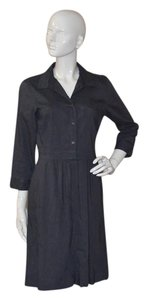 Eileen Fisher short dress Graphite Linen on Tradesy
