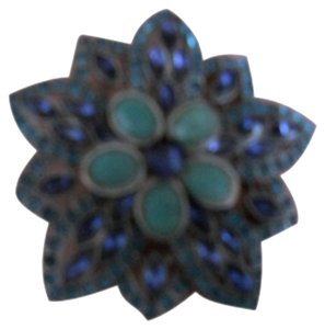 Blue and Green stone Pin