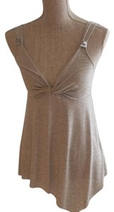Express Handkerchief Hems Sequined Size Small Top Grey