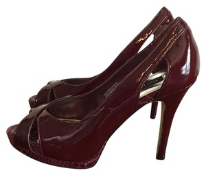White House | Black Market Patent Leather Oxblood Pumps
