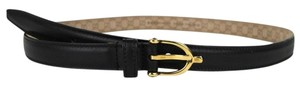 Gucci New Gucci Women's Black Belt w/Stirrup Buckle Size 100/40 309900 1000