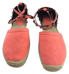 Rebecca Minkoff Espadrilles Ankle Strap Studs coral Flats