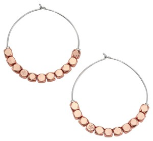 Tory Burch Tory Burch Geo-Cube Hoop Earring Rose Gold