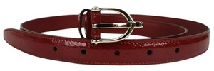 Gucci New Gucci Red Guccissima Leather Belt Stirrup Buckle 95/38 309900 6227