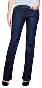 Gap Long & Lean Denim Flare Leg Jeans-Dark Rinse