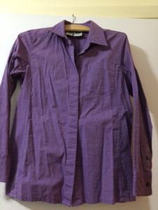 DKNY Button Down Shirt Purple