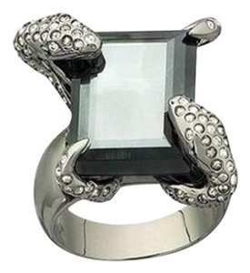 Swarovski 976022 Snake Detail Bugs Montana Satin Gray Stone Cocktail Ring